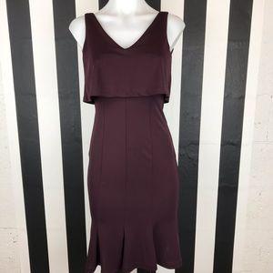 5 for $25 H&M Wine Mermaid Midi Dress